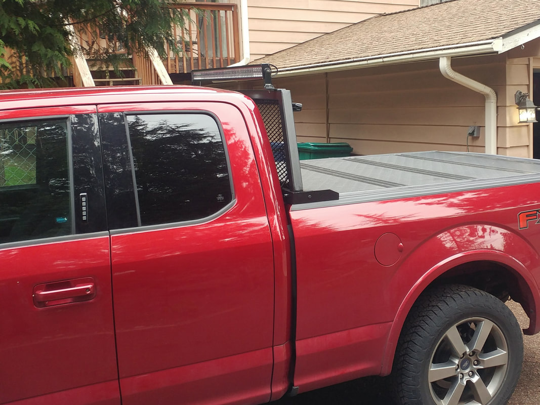 Headache Rack Missions Of Hope F150 With Built 1 8 120 2x2 Square Tube Mounts To Pickup Truck Via Custom Brackets Made 4 Steel Plate